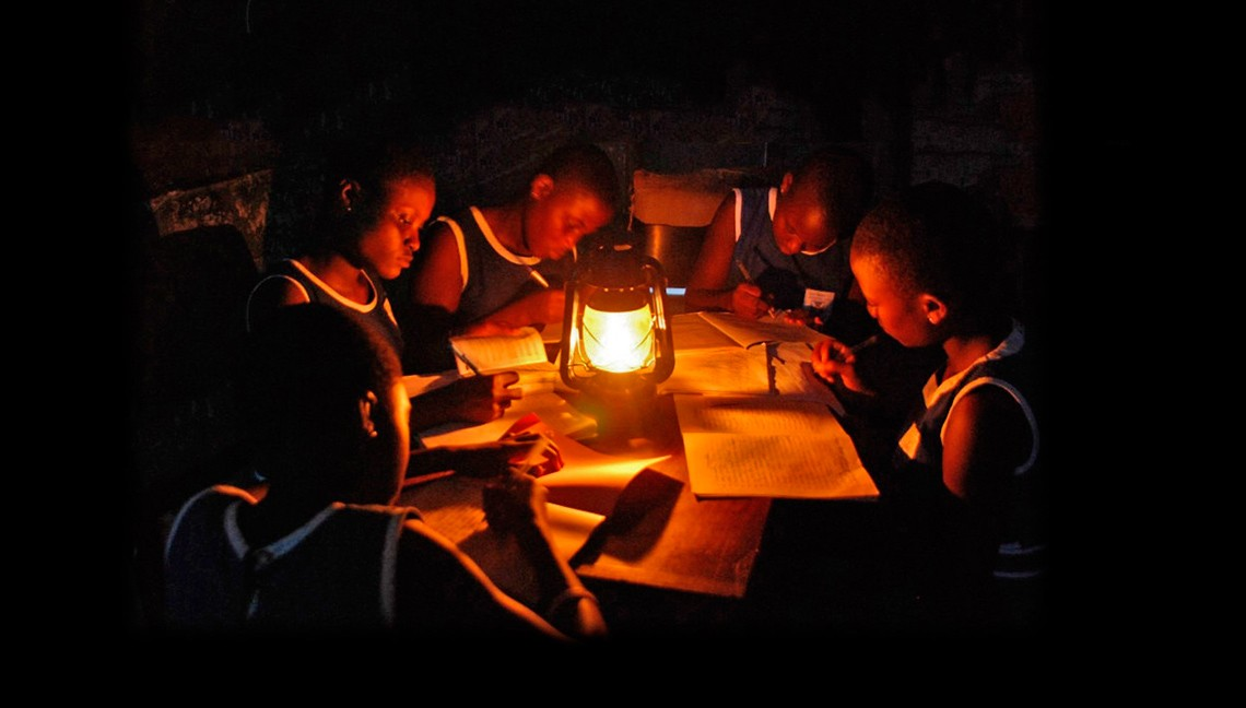 Congolese Students Using Kerosene