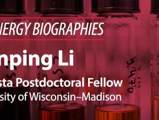 Bioenergy Biographies banner with Jianping Li's picture