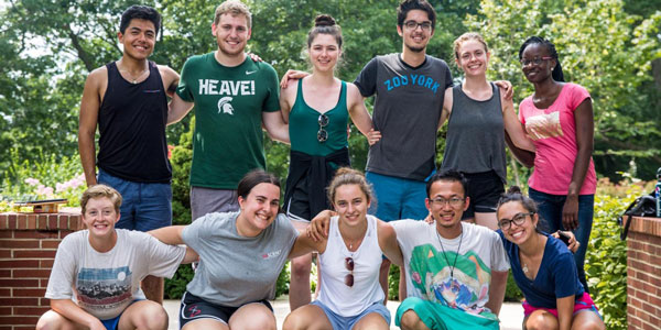 Eleven REU students from Michigan State University and the University of Wisconsin–Madison toured MSU's Kellogg Biological Station.
